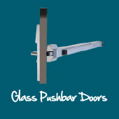 Glass Pushbar Doors